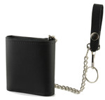 Bifold Wallet with Chain Back