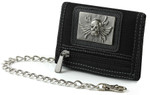 Men's Wallet with Chain: Skull Wings