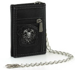 Men's Wallet with Chain: Skull Dragon