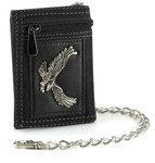 Men's Wallet with Chain: Soaring Eagle