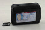RFID Double Zip Accordion Credit Card Holder ID