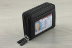 RFID Double Zip Credit Card Holder