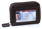 RFID Double Zip Accordion Credit Card Holder