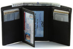 Men's Tri Fold Wallets Flip Wing