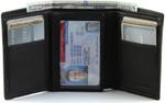 Men's Tri Fold Wallets Large ID Window