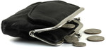 Small Leather Change Purse Open