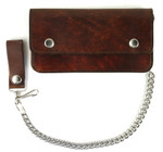 Leather Wallet with Chain
