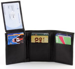 RFID Trifold Wallet for Men Flip Up ID