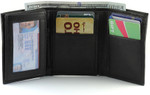 RFID Trifold Wallet for Men Open