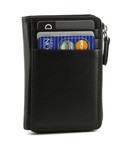 RFID Credit Card and ID Holder with Gusset Pockets.