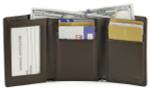 Tri-Fold Wallet Open Brown