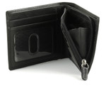 RFID Bifold Men's Wallet with Built-In Zipper Coin Pocket