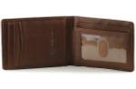 Money Clip Leather Wallet - Brandy