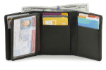 Mens Trfiold Wallets - Black