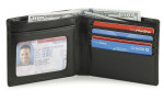 Mens Wallet Credit Card Holder and ID Window Black