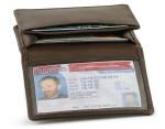 Card Holder Flip ID Brown