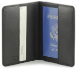 Leather Passport Holder with RFID Protection