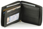 RFID Leather Zipper Wallet with Coin Purse