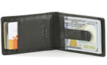 Mens Wallet with Money Clip Inside - Black