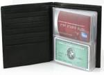 Hipster Double High Wallet Insert Shown inside a wallet