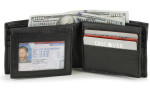 RFID Bifold Wallet with Double Sided Flaps
