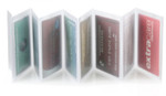 Trifold 8 Page Accordion Plastic Wallet Inserts