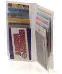 Plastic Wallet Inserts - 12 Page Credit Card Holder
