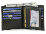 Mens Leather Hipster Wallet with Removable Card Case