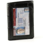 Eel Skin Trifold Wallet with Front ID