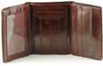 Eel Skin Trifold Wallet - Burgundy