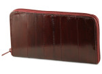 Womens Eel Skin Wallet - Burgundy