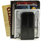 Eel Skin Magnetic Money Clip with ID Window
