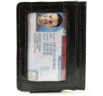 Eel Magnetic Money Clip with ID - Black
