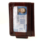 Mens Money Clip - Burgundy
