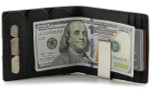 RFID Money Clip Wallet with Coin Pocket