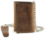 Chain Wallet Brown