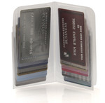 Plastic Wallet Inserts - Secretary 10 Page Credit Card Holder Open