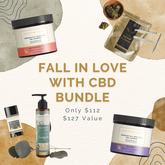 Fall in Love with CBD rich hemp extract products with Gold Leaf Collection