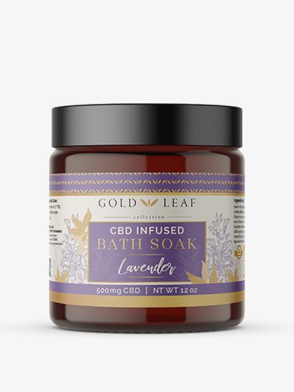 CBD Bath Soak, Lavender – 500mg CBD
