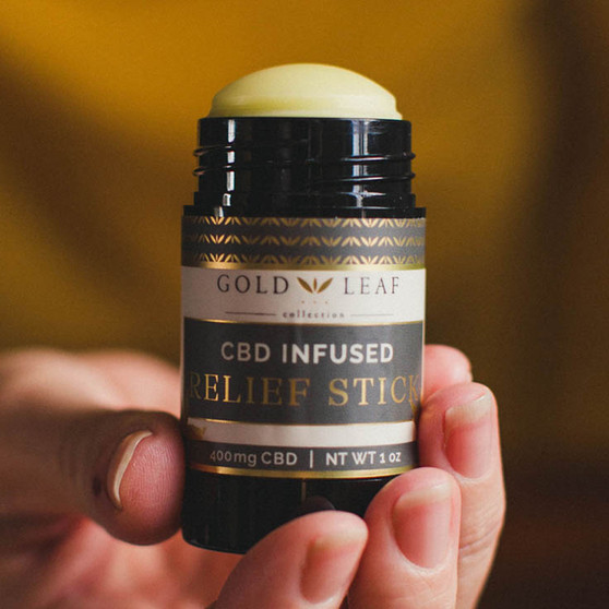 Lake Country Growers presents Gold Leaf Collection CBD Stick | High Intensity Relief Stick – 400mg CBD