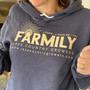 Lake Country Growers Farmily hooded fleece lined sweatshirt in heather navy