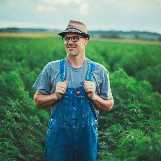 Benj Lawrenz musician carpenter hemp farmer dad of 4
