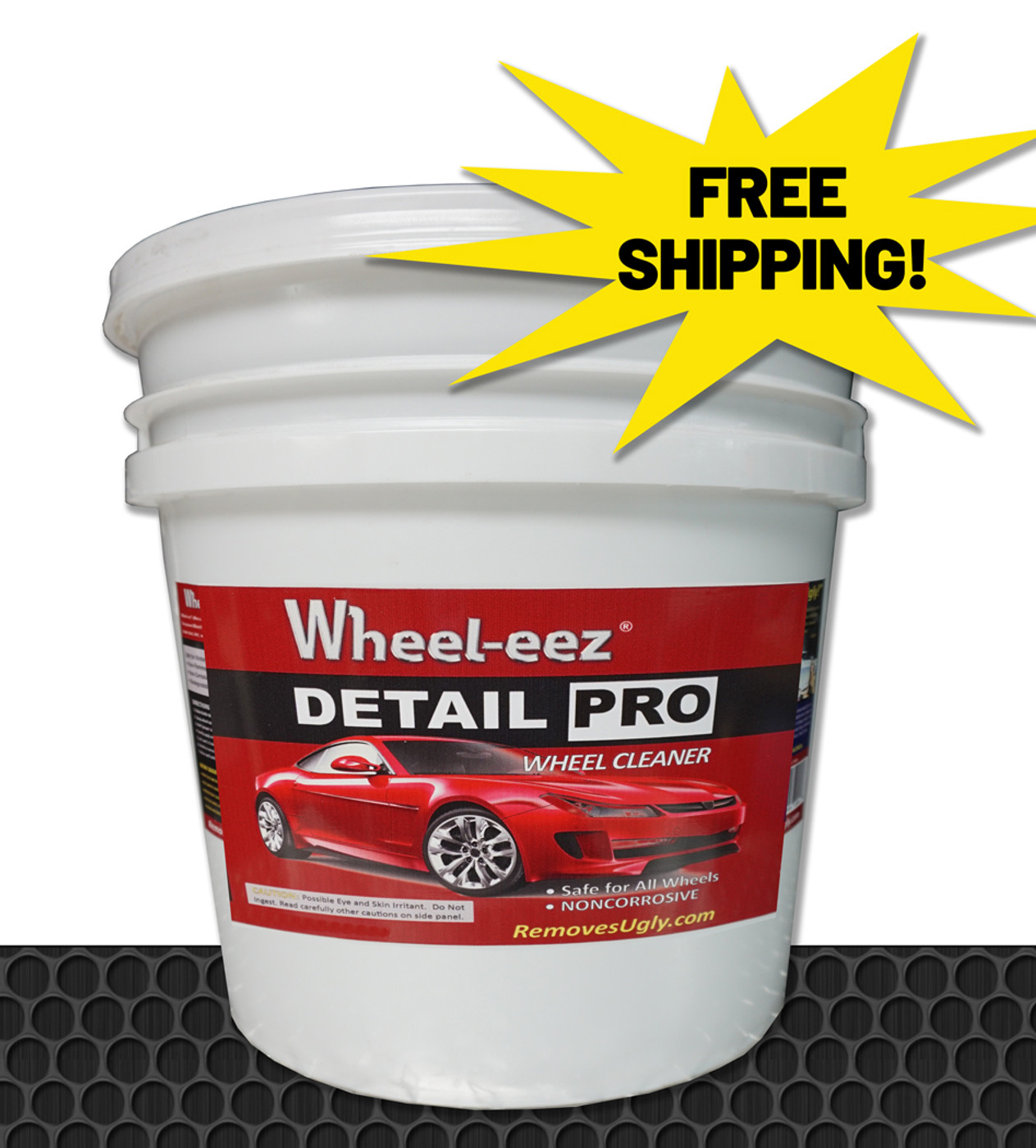 Wheel-eez® Detail Pro™ wheel cleaner offers the best in class wheel cleaner for professional detailers.  Detail Pro™ can be used with ALL Wheel types.  It is noncorrosive and safe to use, along with being biodegradable.  No more relying on harsh chemicals for your tough to clean wheels.    Just spray first with water, then mist Wheel-eez® on wheel.  Leave on for a few minutes for tough greasy dust and grime.  Agitate as needed and rinse away for a clean shiny wheel.