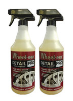 Wheel-eez® Detail Pro™ wheel cleaner offers the best in class wheel cleaner for professional detailers.  Detail Pro™ can be used with ALL Wheel types.  It is noncorrosive and safe to use, along with being biodegradable.  No more relying on harsh chemicals for your tough to clean wheels.    Just spray first with water, then mist Wheel-eez® Detail Pro on wheel.  Leave on for a few minutes for tough greasy dust and grime.  Agitate as needed and rinse away for a clean shiny wheel.   2x 32oz Bottle with Spray Trigger