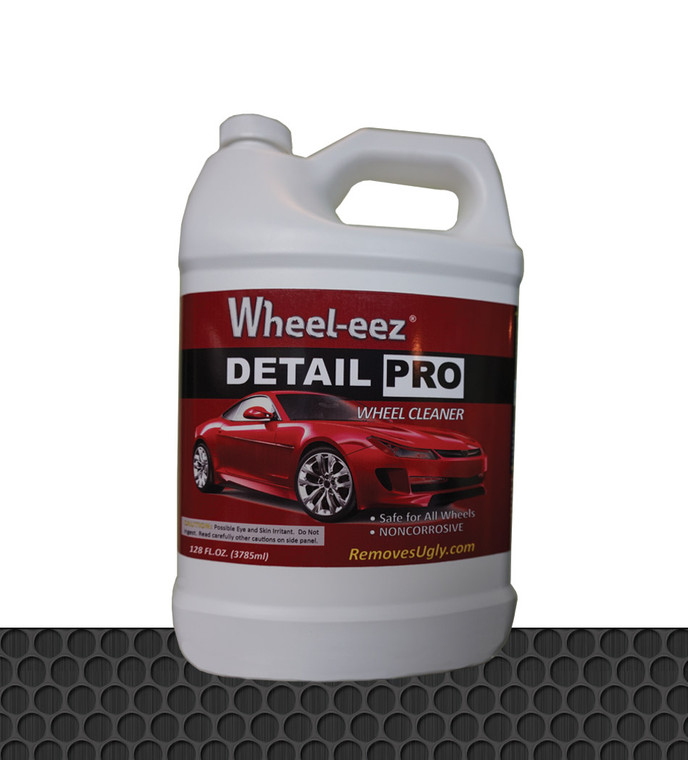 Wheel-eez® Wheel Cleaner offers superior cleaning for ALL WHEEL TYPES. Our proven Wheel Cleaner can tackle your worst greasy brake dust, dirt, and grime! Safer and Non-Corrosive: Wheel-eez® Wheel Cleaner is water based with no Solvents. Wheel-eez® Wheel Cleaner is designed to be non corrosive, unlike many other heavy duty wheel cleaners. It's environmentally friendly and is biodegradable.