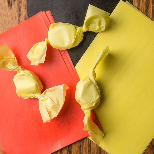 Yellow Caramel Wrappers, 100 Sheets