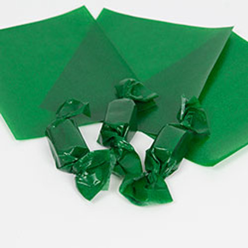 Green Caramel Wrappers, 100 Sheets