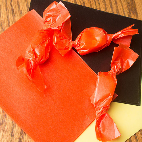 Orange carmel wrappers