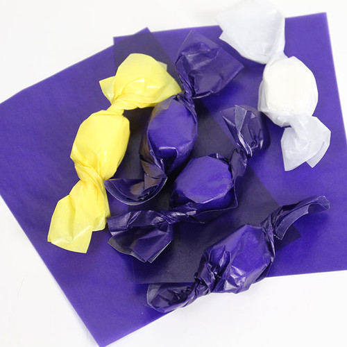 Purple Caramel Wrappers, 100 Sheets