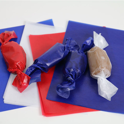 Blue Caramel Wrappers, Sheets100